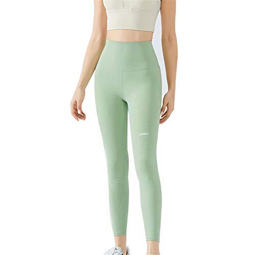 Dreafly Pantalones de Yoga de Tacto Suave para Mujer, Pantalones Ajustados elásticos de Cintura Alta para Entrenamiento físico, Correr