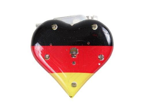 Blinki LED Anstecker Blinky Brosche LED Pin Button viele Motive, wählen:Herz Deutschland 21