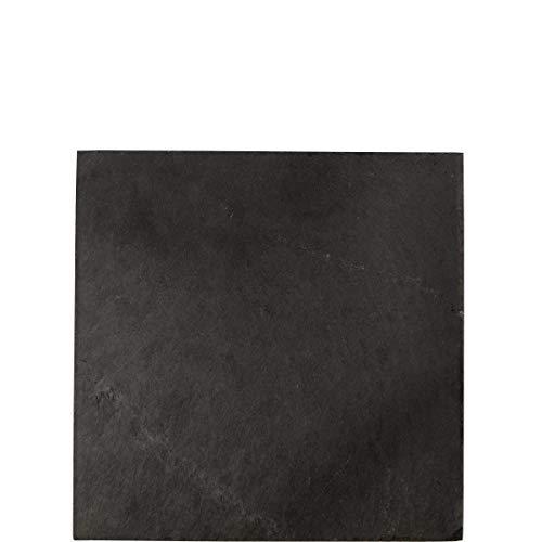 Butlers Plateau Schieferplatte 30 x 30 cm - Schwarzer Schiefer Untersetzer - Moderne Tischdeko, Ablage und Geschenkidee