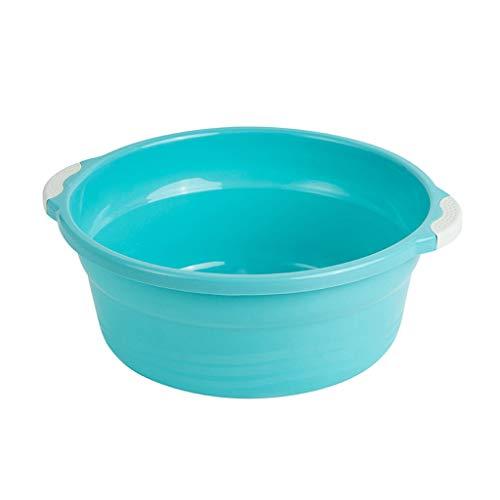 LLKK Vajilla Redonda Diaria,2 fregaderos de plástico,fregaderos domésticos,fregaderos de plástico,fregaderos Gruesos Redondos,fregaderos,lavabos,lavabos para pies,recipientes de plástico