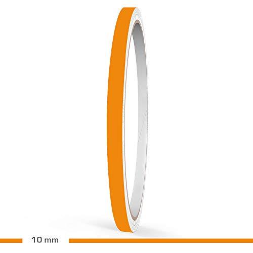 Motoking Zierstreifen, Orange Matt, 10 mm Breite, 10 m Länge, RAL 2008, Aufkleber Folie Auto Boot Motorrad Wohnmobil Wohnwagen & mehr
