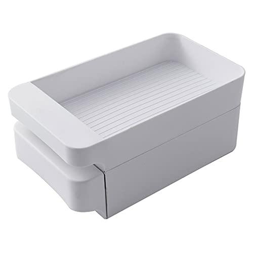 LLSL Rack de Huevos de refrigerador de Gran Capacidad, Caja de Almacenamiento de Huevos de Tipo cajón, contenedor de Almacenamiento de Huevos Multicapa - Dibujo Liso - 3 Capas (60 Huevos),Two