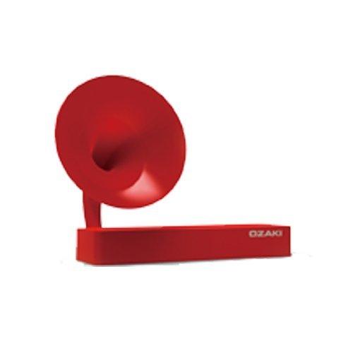 Ozaki iSuppli Gramo - Altavoz con Puerto Dock para Apple iPhone 4/4S (USB, 15 dB, Plug & Play, 5 W), Color Rojo (Importado)