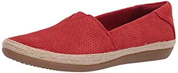 Clarks Women s Danelly Sky Loafer Red Suede 90 M US