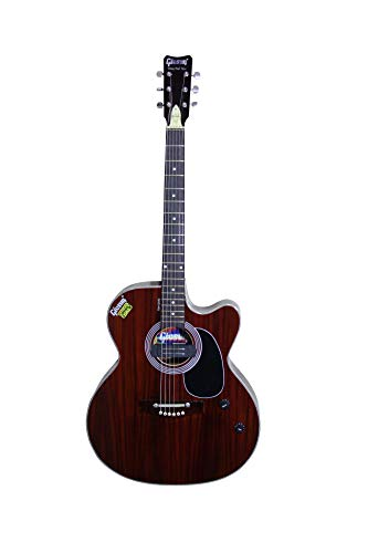 Givsun Venus Full Rose Natural 6-String Cut A Way Right Hand Acoustic Semi-Electric Guitar With Bag And Free 1 Set String,2 Picks
