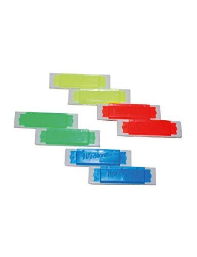 COOLMP  Juego de 3  8 miniarmnicas de colores falsos  Talla nica  Accesorios de fiesta, disfraz, juegos  Juguetes