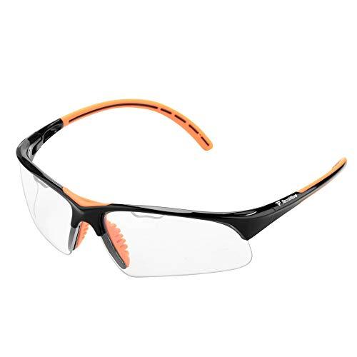 Tecnifibre - Gafas de Squash Black para Adulto, Unisex, Negro/Naranja, Talla única