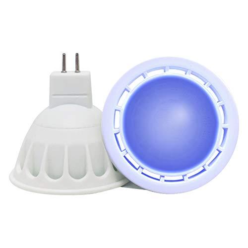VARICART GU5.3 12V COB LED Glühbirne Farbe Blau, 6W MR16 60° Strahlwinkel, 50W Halogen Gleichw.500lm, Spezial Scheinwerfer Glühbirne für Stimmungs, Dekorative und Festliche Beleuchtung (2er Pack)
