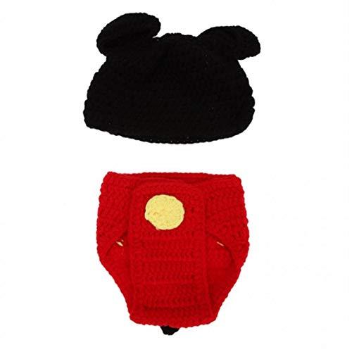 Fotografía De Recién Nacido Atrezzo Hat Cap Niños Conjuntos De Punto De Ganchillo Traje Recién Nacido Fotografia Ropa Accesorios