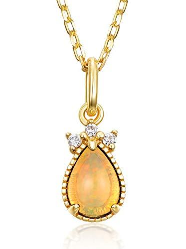 ZHANGQIAN Women Opal Necklace Pendant, 925 Sterling Silver, 7 * 5mm Teardrop Shape, Jewelry gift