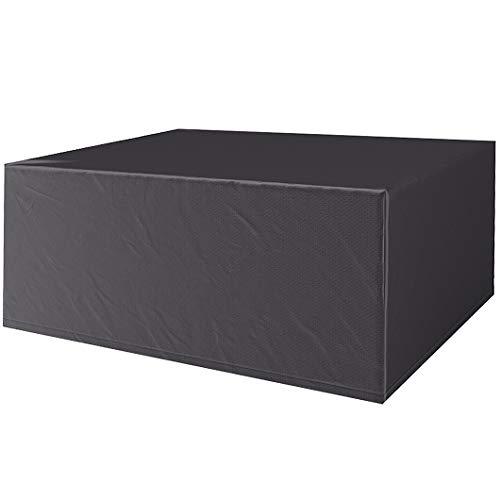 CTTAO Funda Protectora 200x200x85cm Resistente al Desgarro Anti Viento/UV, Cubierta de Muebles Polyester, para Muebles de Jardín, Patio, Mesa Sillas Sofás, Negro