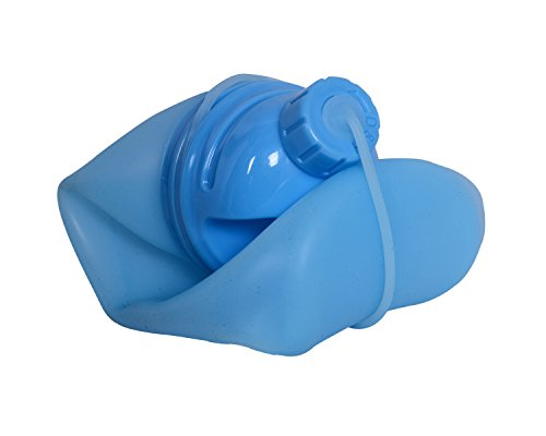 Husker® Cool Design Foldable BPA Free Water Bottle 500 ml for Juice/Gym/Sports (Blue)