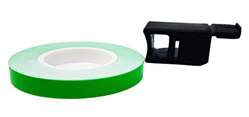 4R Quattroerre.it 10290 Wheel Stripes Franjas Llantas de Moto con Aplicador, 7 mm x 6 mt, Verde Fluorescentes