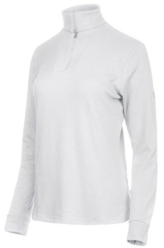 Medico Damen Ski Shirt, 40, 100% Baumwolle, langarm, Reißverschluss, 516a