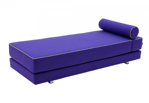 Schlafsofa Lubi - edles Designer Schlafsofa, Lila - Liegefläche 80/160 x 200cm - Tagesbett - Gästebett - Klappbett