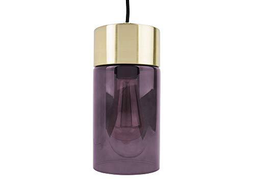 Leitmotiv – Lampadario a sospensione – LAX – Lillà, oro – Ø 12 x H24,5 cm – con lampadina – Design: Joyce v.Krieken