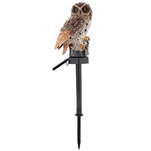 Solarlicht, Outdoor Owl Design Wasserdichte LED Landschaft Garten Rasen Harz Lampe Realistische Dekor für Garten, Vogelschutzmittel Hausgarten Beleuchtung(Braun)