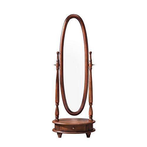 AOWU Espejo colgante de baño, espejo de pie, ovalado, almacenamiento vintage, espejo...