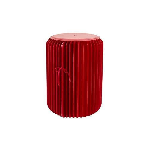 Qiansejiyijiajudengzi Taburetes Papel Kraft Plegable Taburete con la Cinta Fija Negro/marrón/Rojo/Blanco 4...