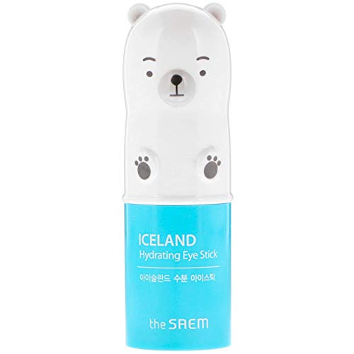 [the SAEM] Iceland Hydrating Eye Stick 0.24oz (7g) - Cooling Eye Stick to Cool and Brighten Dark and Puffy Eyes, 5% Iceland Mineral Water