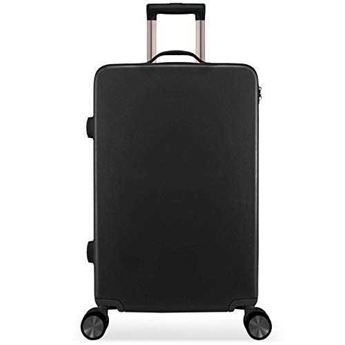 High Quality Luggage, Silent Universal Pulley Sturdy Durable Lightweight Fashion Tie Rod Suitcase with TSA Lock Spinner for Adults Traveling Vacation Picnic-22'-Black