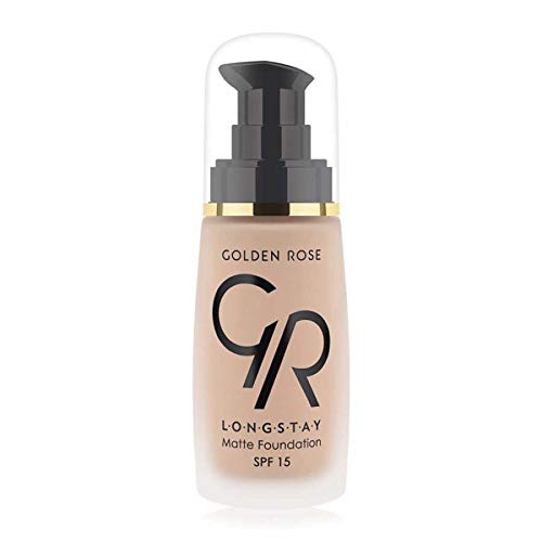 Matte Long Wear Oil Free Foundation with SPF 15, #05 - Beige by Golden Rose