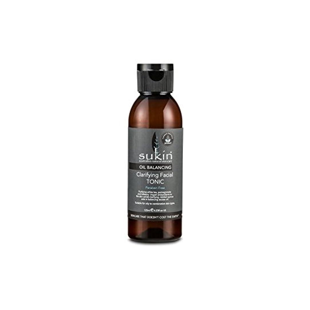 製油所要求隣接フェイシャルトニック125ミリリットルを明確オイルバランシング x2 - Sukin Oil Balancing Clarifying Facial Tonic 125ml (Pack of 2) [並行輸入品]