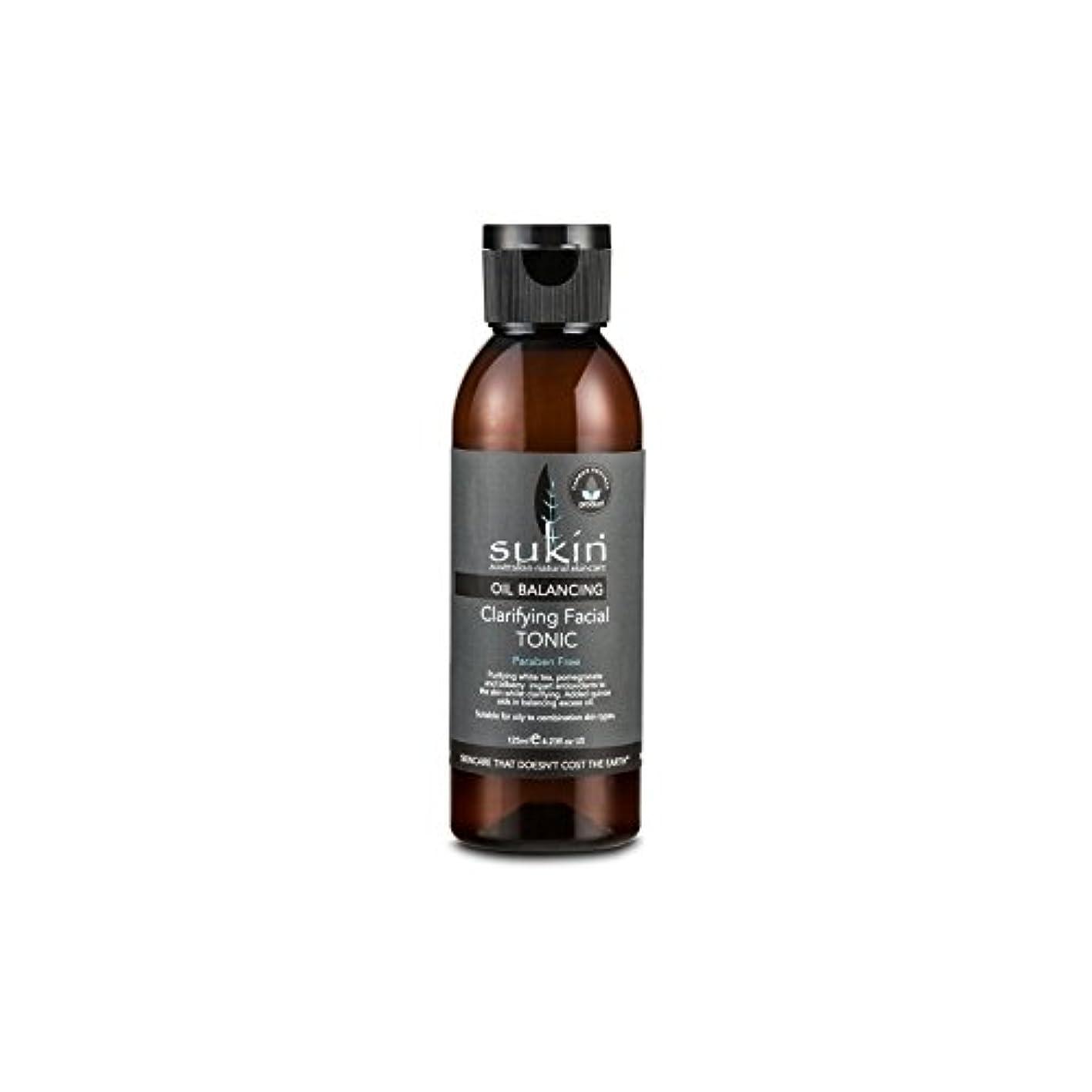 フェイシャルトニック125ミリリットルを明確オイルバランシング x4 - Sukin Oil Balancing Clarifying Facial Tonic 125ml (Pack of 4) [並行輸入品]