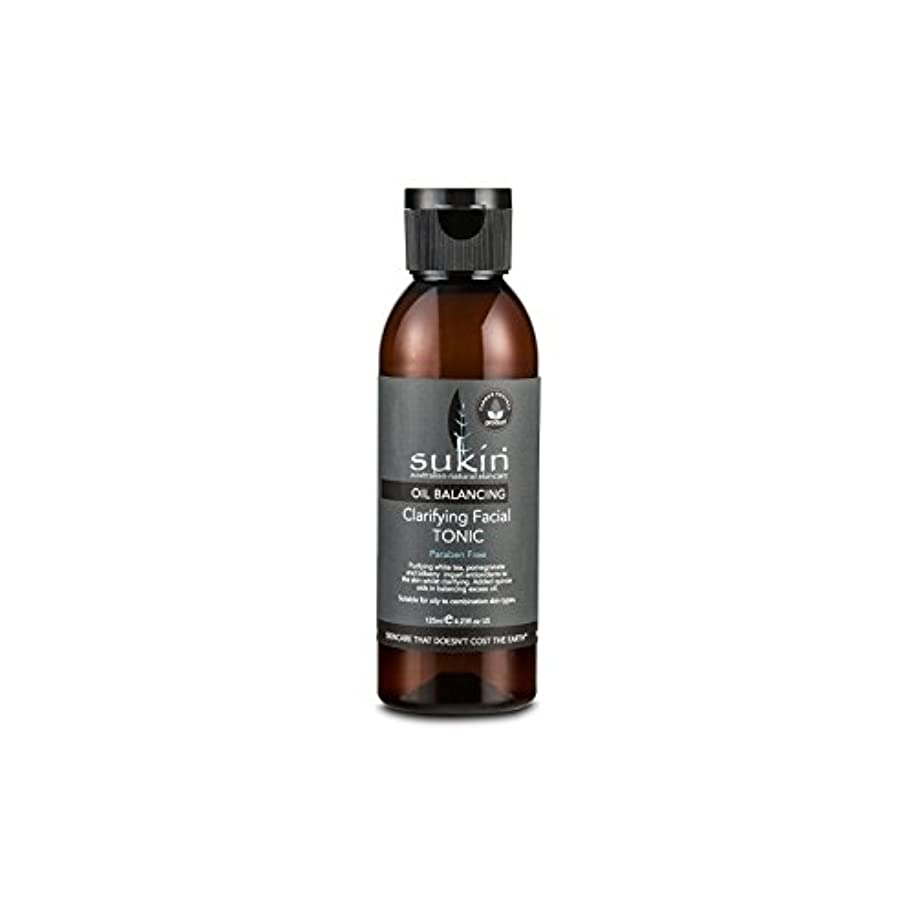 気候の山洋服毒Sukin Oil Balancing Clarifying Facial Tonic 125ml (Pack of 6) - フェイシャルトニック125ミリリットルを明確オイルバランシング x6 [並行輸入品]