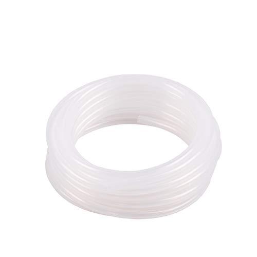 damply スーパーソフト シリコンチューブ 高品質 工業用 乳白色 耐熱ホース エアーチューブ/水槽エアーレーション/アクアリウム/エアポンプ/エアストーン接続/たっぷり使える (5M, 外径6mm×内径4mm)