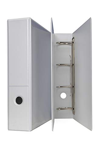 Archivador para presentaciones mecánicas (DIN A4, 65 mm de ancho, fabricado en Alemania), color blanco