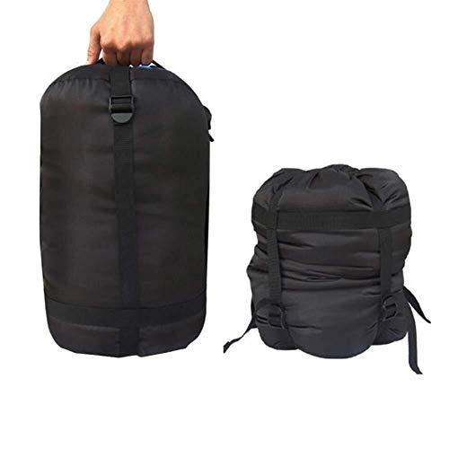 Wencaimd Schlafsäcke für Camping Kompressionspacksack Wasserdichter Schlafsack Nylon Leichte Outdoor Camping Aufbewahrungsbeutel Pack Schwarz für draußen
