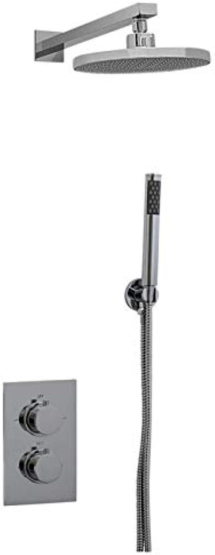 ENKI Unterputz-Duscharmatur Thermostat Rund 2 Wand Kopfbrause Handbrause Neu