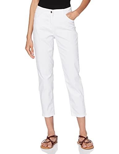 GERRY WEBER Edition Damen Best4me 7/8 Jeans, Weiß/Weiß, 42W (Herstellergröße: 42R)
