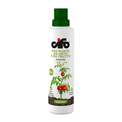CIFO per Piante da Orto e da Frutto. Concime Liquido Bio. Anche per Piante aromatiche e Frutti sani e gustosi. 500ml.