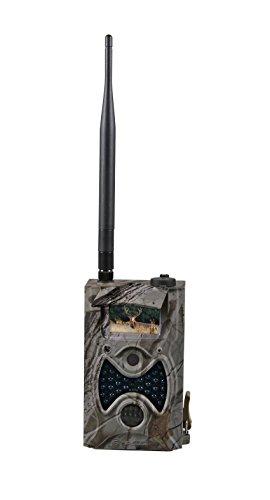 Bresser HD Wildkamera 12 MP mit SSL-E-Mail/MMS Versand, SD-Karte, Bewegungssensor und, schwarzem Infrarotblitz für Foto- und Videoaufzeichnungen in Camouflage-Optik