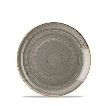 Churchill Stonecast -Coupe Plate Teller- Durchmesser: Ø26,0cm, Farbe wählbar (Peppercorn Grey)