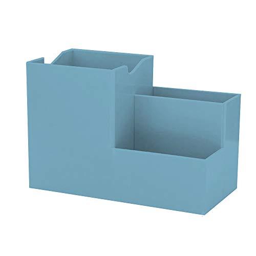 Maxure Organizador de almacenamiento de escritorio, estuche para lápices, contenedor de papelería, caja de almacenamiento para tocador, para escritorio, suministros de oficina, mesa de tocador