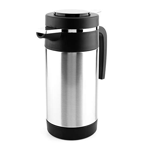 Junluck Bouilloire électrique, Bouilloire à thé électrique 12 V 1000 ML, Bouche étanche en Acier Inoxydable pour café thé Tasse de Chauffage de l'eau Bouilloire électrique