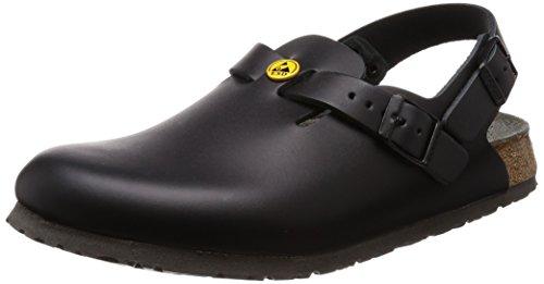 Birkenstock 61408-40-schmales Schuh TOKIO Antistatik/Naturleder SCHWARZ Gr. 40-schmales Fußbett, Größe