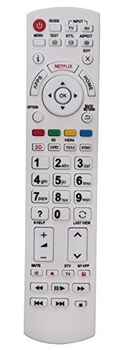 ALLIMITY N2QAYB000842 N2QAYB001009 Fernbedienung Ersetzt für Panasonic Viera LED TV TX-32DSN608 TX-32DSW504S TX-39AS650E TX-39ASW504 TX-39ASW654 TX-40AS640B TX-40CS620E TX-40CS630E TX-40CSN638
