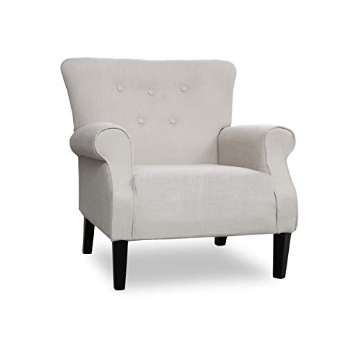 Top Space Accent Chair Sofa Mid Century Upholstered Roy Arm Single Sofa Modern Comfy Furniture for Living Room,Bedroom,Club,Office