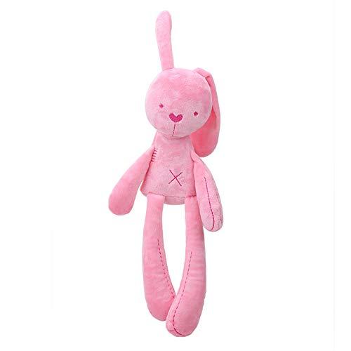 N / A Nette Kaninchenpuppe Baby Weiches Plüschtier für Kinder Hase Schlafkamerad Gefüllte & Plüsch Tierbabyspielzeug Für Kleinkinder 54CM (mit Ohr)