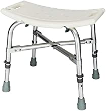2019 New Heavy Type Adjustable Aluminum Alloy Shower Chair for The Old/Pregnant White CST-3021