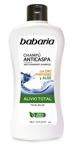 Babaria Champú Anticaspa con Aloe Vera, Blanco, 400 Mililitros