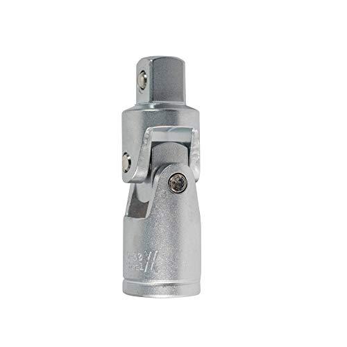 Kardan-Gelenk 3/8 Zoll Vierkant beidseitig aus CV-Stahl verchromt I Kreuzgelenk mit Antrieb 10mm (3/8