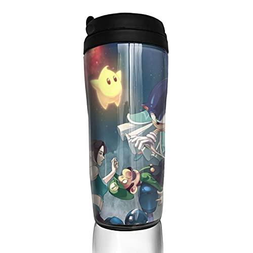 Super Smash Bros Legend of Zelda Pikachu Mario Kirby Taza de café para hombre y mujer, aislamiento de agua, para viajes, oficina, obras al aire libre, regalo de cumpleaños, capacidad de 12 onzas