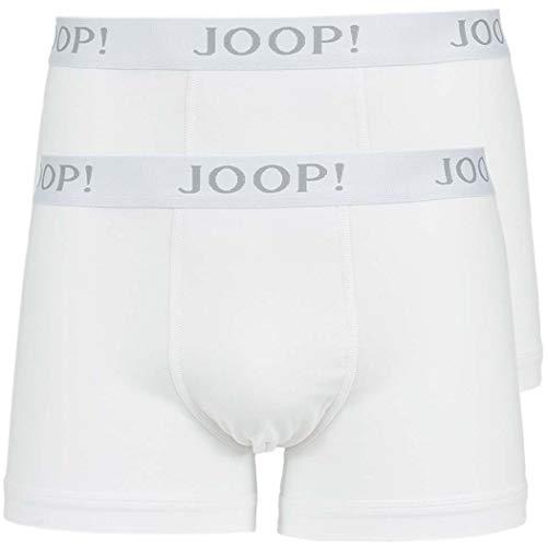 Joop! Herren 2er Pack Boxer Shorts - Modal Cotton Stretch, Vorteilspack, Uni, Logo weiß XL (X-Large)