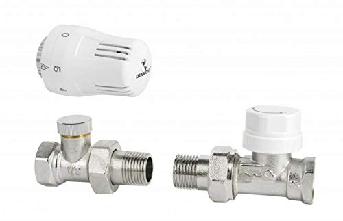 Thermostatsatz = thermostatkopf + thermostatventil + rücklaufverschraubung 1/2' Durchgang Heizkörper Ventil
