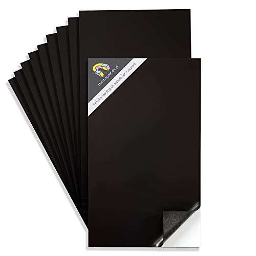 10 A4 Adhésif Magnétique Pages 0.85mm Très Collant, Forte Flexible Voiture Fabrication Enseignes et Patron Stockage LE FRIGO AIMANT BOUTIQUE